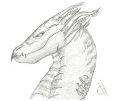 old drawing dragon by CandiceShadow