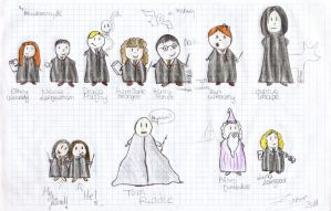 Harry Potter + MEandF colored. by MissWeasleyJB