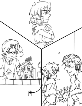 Baby Touch Trio Lineart by NajikaSun