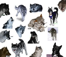 Iscribble Canines by Indybreeze