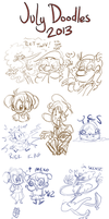 July Doodles 2013 by TopperHay