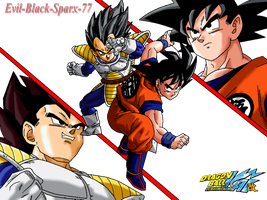 Vegeta vs Kakarot by Evil-Black-Sparx-77