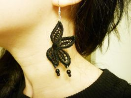 Floral Lace Earrings by Lincey