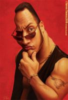 "Dwayne ""The Rock"" Johnson by Bigboithomas84"