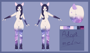 Cosmic Deer Adopt: PayPal Auction CLOSED by Osolito