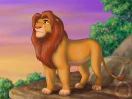 Simba thoughtful by Kivuli