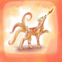 Fox of fire doodle by Psunna
