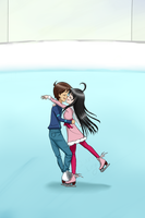 Ice Skating by QianaKing