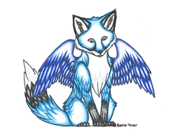 Blue Winged Fox by Karate-Foxes