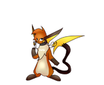Mortimer the Raichu by Flutter-Rays