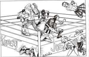 Joe Kubert Wrestling League by acarabet
