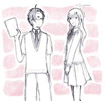 AT: Austria and Hungary (Gakuen AU) by Citrus-Foreno