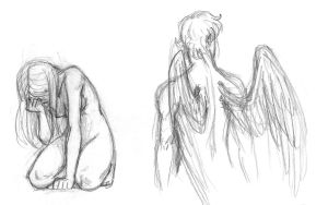 Sketches-Eros and Psyche