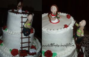 Wedding Cake toppers by krittermaker