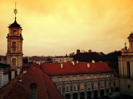 Old Roofs of Vilnius by Helkathon