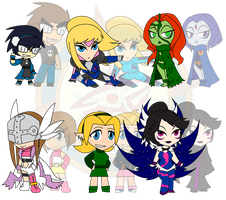 Assorted Chibis - Au 5 by Dragon-FangX