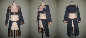 Navy Pirate Vest and Skirt by thealisabeth