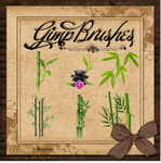 GIMP Brushes | Bamboo Brushes by TheAngeldove