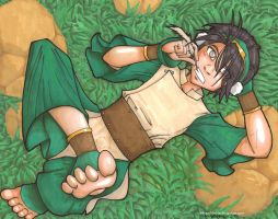 Afternoon, Toph. by IndyScribbable