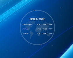 World Time Rainmeter by brbk
