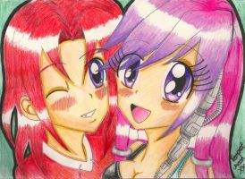 Anime Knuckles and Julie-Su by TempestMoonXx