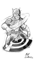 Marvel Madness: Captain America by MattCarberry