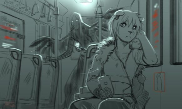 Midnight bus by Melloque