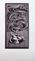 Linocut Cigarette 02 by camhasnonickname