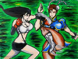 Tifa VS Chun li by ALEXWORX