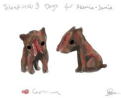 Silent Hill 3 Dogs by capsicum