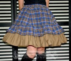 Blue tartan skirt by zeloco