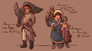 Three Lil' Eagle Hunters by whimsycatcher