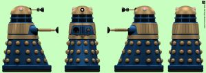 Arcade Blue Dalek by Librarian-bot