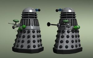 Daleks with paintball guns by Jim197
