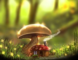Mushroom house by knotty02