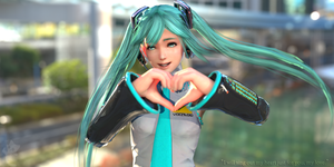 Hatsune Rose - The smile behind the Glass Wall by Konos-P