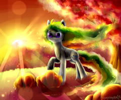 Autumn Halloween by AquaGalaxy
