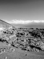 Black and White View Porthcawl Town Beach June 12 by welshrocker