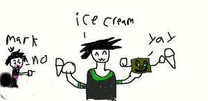 ice cream with tiny box tim by goku866