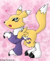 Chibi Renamon -colored- by Sting-Chameleon