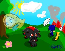 Chibi Shadow crying by GNTS