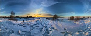 Frozen River Panorama by PsikusTatkin