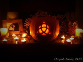 Triquetra Pumpkin Carving by Dryad-Song