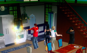 Jared... Burning down the house-Sims 2 by nizzie12