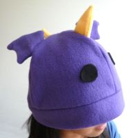 Purple Dragon Fleece Hat by kyra10987