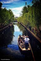 Canal cruising in Yanagawa by WindyLife