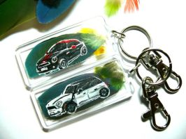 Coupe and Countryman Keychains by dittin03