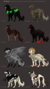 Evil Borzoi Adoptables - character auction CLOSED by akreon