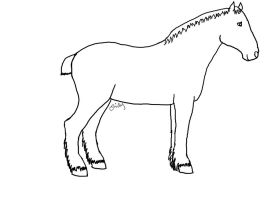 Horse Lineart 2 by Stock-by-EmRob