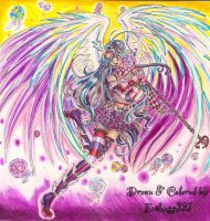 :Ceci's-Contest: Lollipop Rainbow Angel by Evilness321